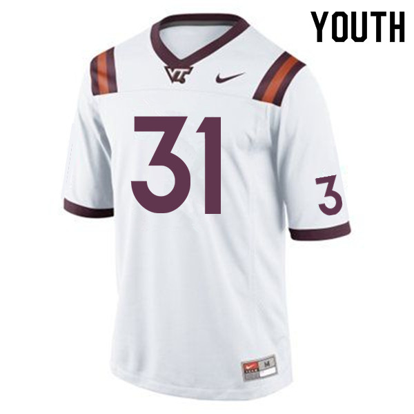 Youth #31 Brandon Facyson Virginia Tech Hokies College Football Jerseys Sale-Maroon